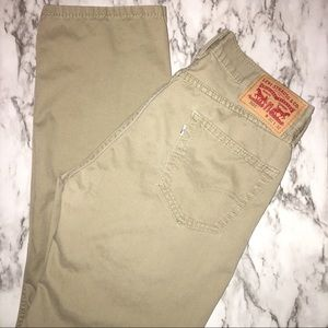 LEVIS 505 Khaki straight leg pants SIZE:W30 L:32